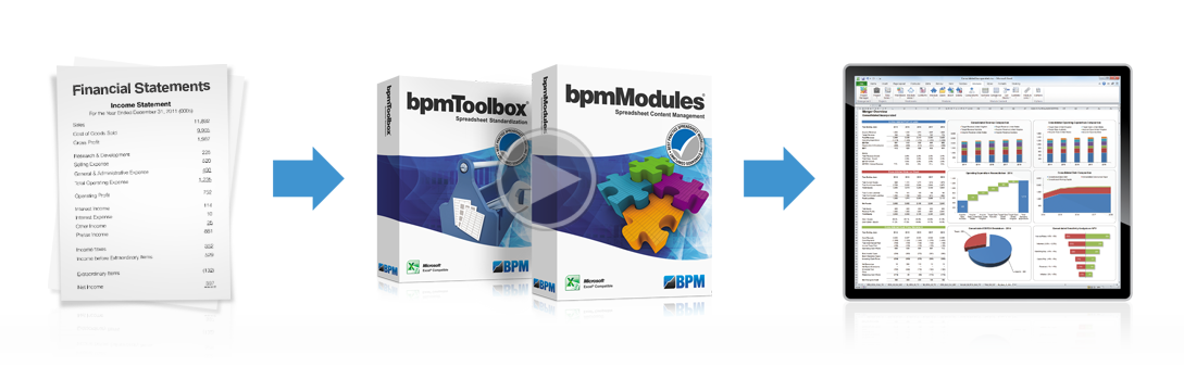 bpmToolbox and bpmModules software packaging with video play button